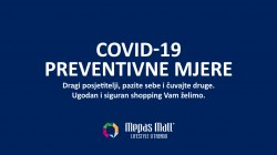 Mepas Mall Covid-19 preventivne mjere