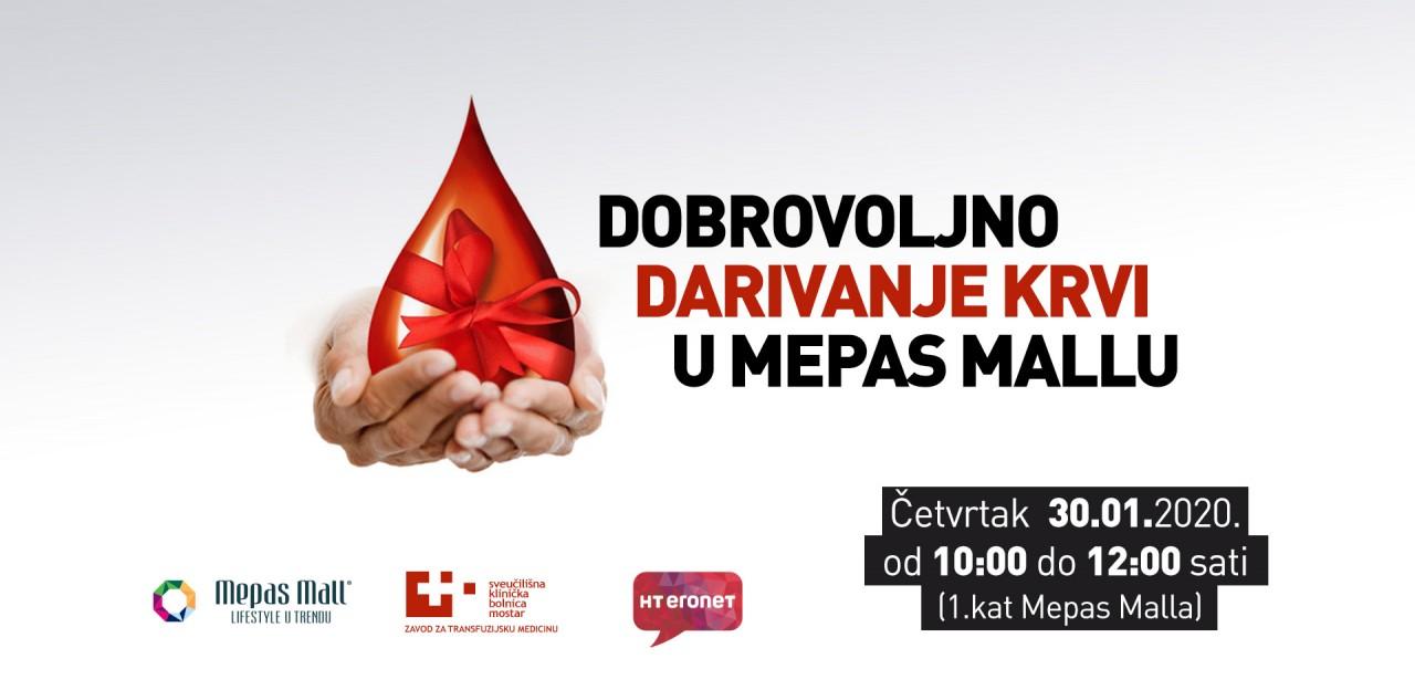 Dobrovoljno darivanje krvi u Mepas Mallu