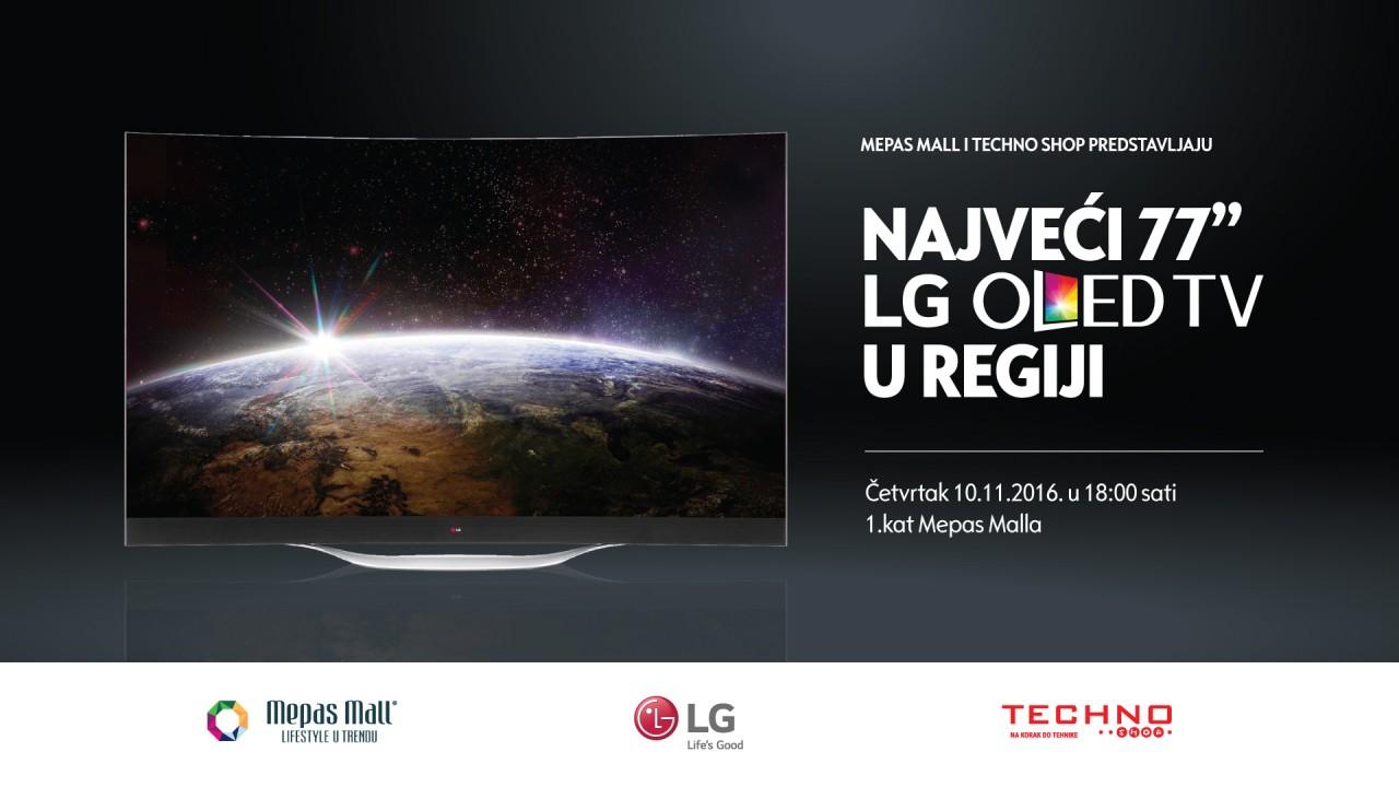 Mepas Mall i Techno Shop predstavljaju najveći  77'' LG OLED TV u regiji